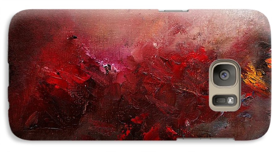 Abstract Galaxy S7 Case featuring the painting Abstract 056 by Pol Ledent