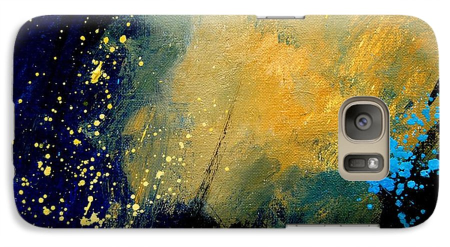 Abstract Galaxy S7 Case featuring the painting Abstract 061 by Pol Ledent