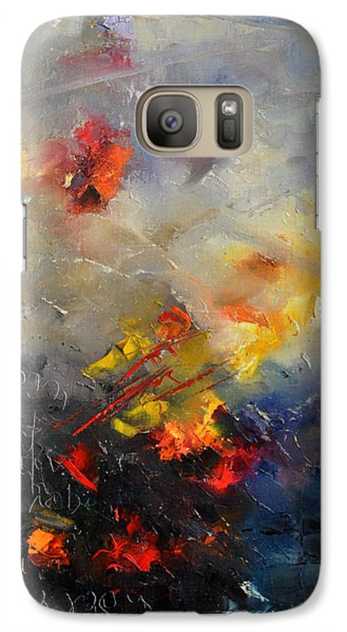 Abstract Galaxy S7 Case featuring the painting Abstract 0805 by Pol Ledent