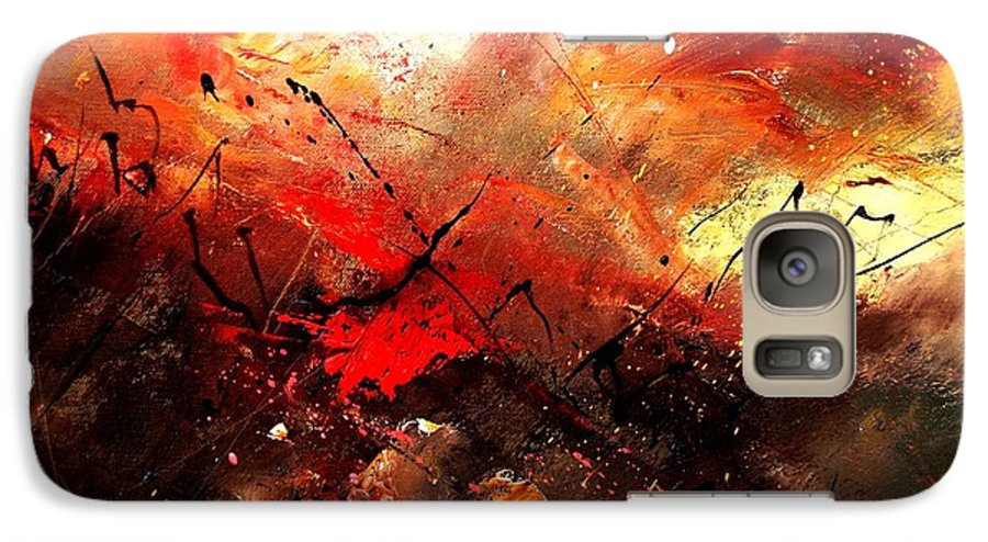 Abstract Galaxy S7 Case featuring the painting Abstract 100202 by Pol Ledent