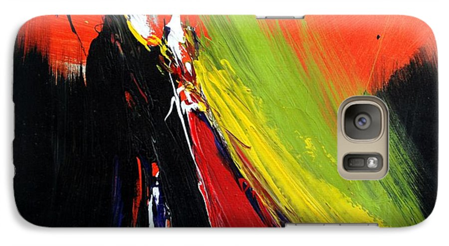 Abstract Galaxy S7 Case featuring the painting Abstract 2002 by Mario Zampedroni