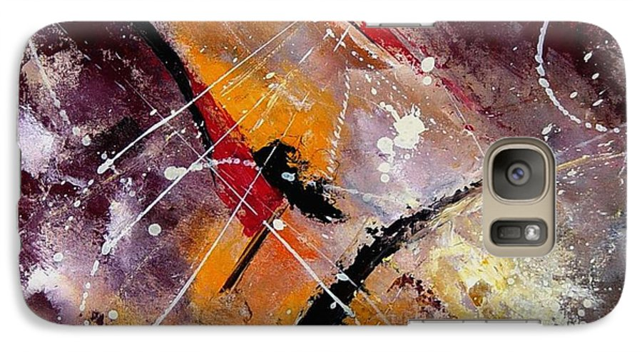 Abstract Galaxy S7 Case featuring the painting Abstract 45 by Pol Ledent