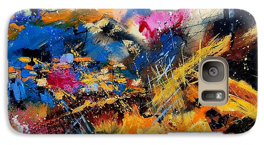 Abstract Galaxy S7 Case featuring the painting Abstract 7808082 by Pol Ledent