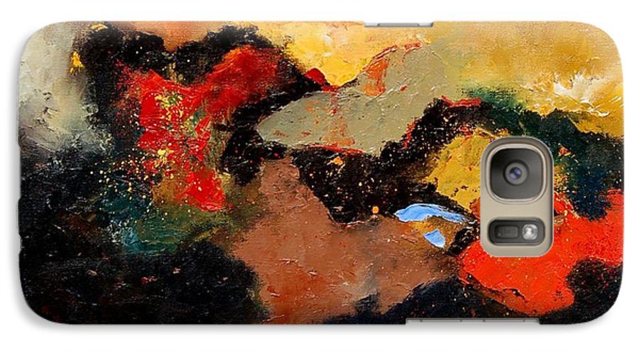 Abstract Galaxy S7 Case featuring the painting Abstract 8080 by Pol Ledent
