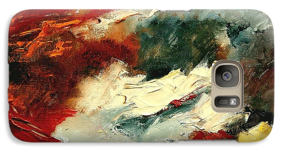 Abstract Galaxy S7 Case featuring the painting Abstract 9 by Pol Ledent