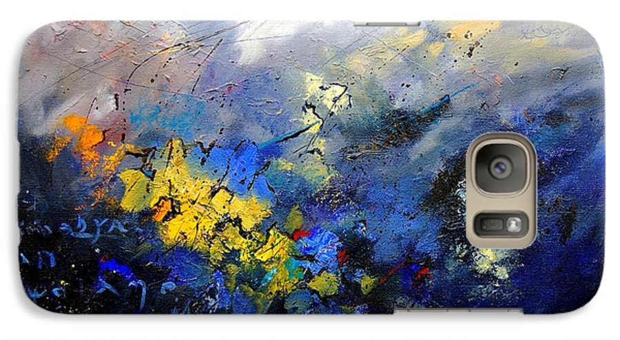 Abstract Galaxy S7 Case featuring the painting Abstract 970208 by Pol Ledent