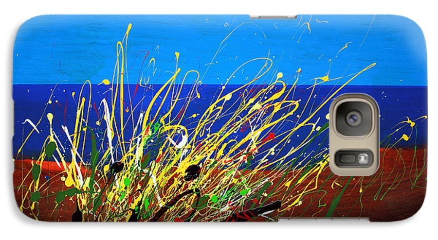 Ibiza Galaxy S7 Case featuring the painting Abstract Ibiza by Mario Zampedroni
