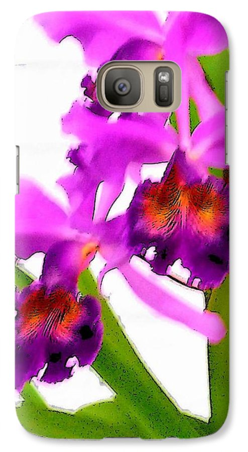 Flowers Galaxy S7 Case featuring the digital art Abstract Iris by Anita Burgermeister