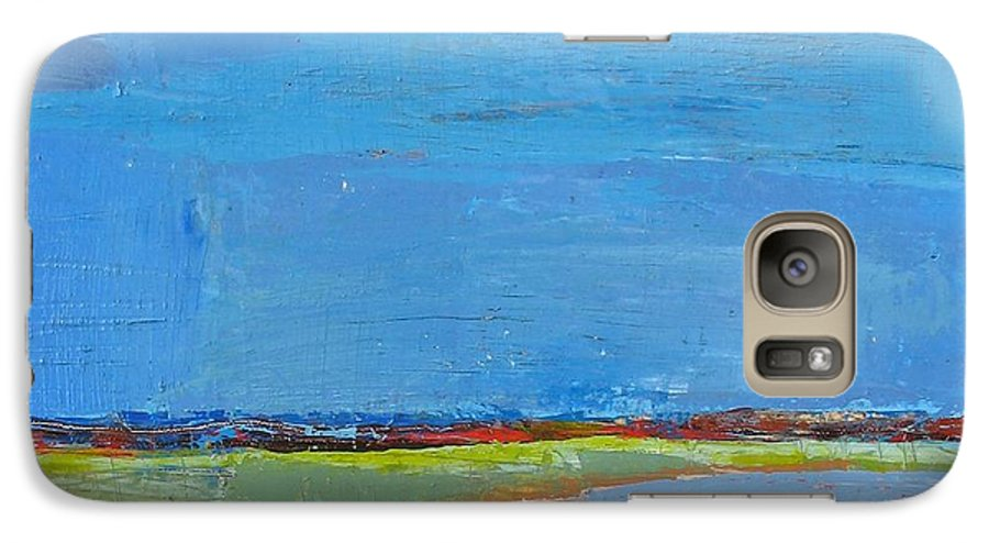 Galaxy S7 Case featuring the painting Abstract Landscape1 by Habib Ayat