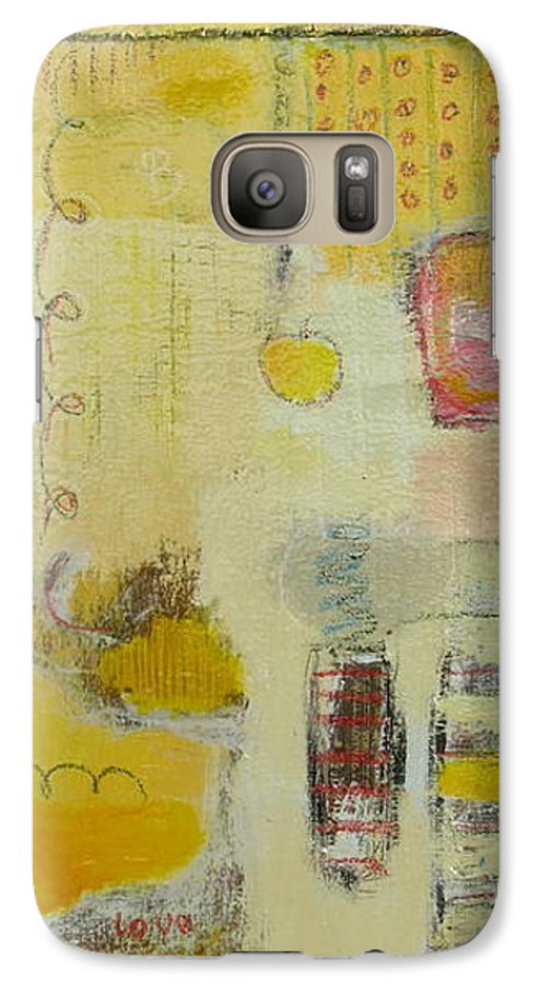 Abstract Galaxy S7 Case featuring the painting Abstract Life 1 by Habib Ayat