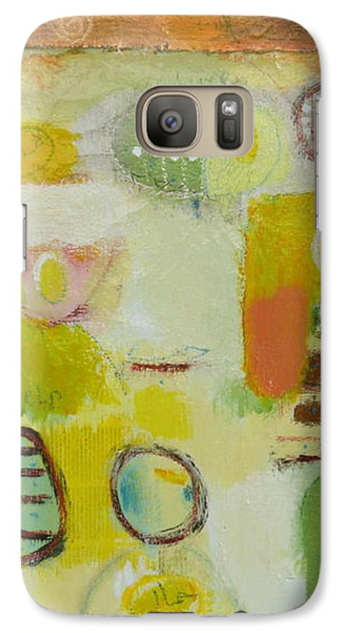 Galaxy S7 Case featuring the painting Abstract Life 2 by Habib Ayat