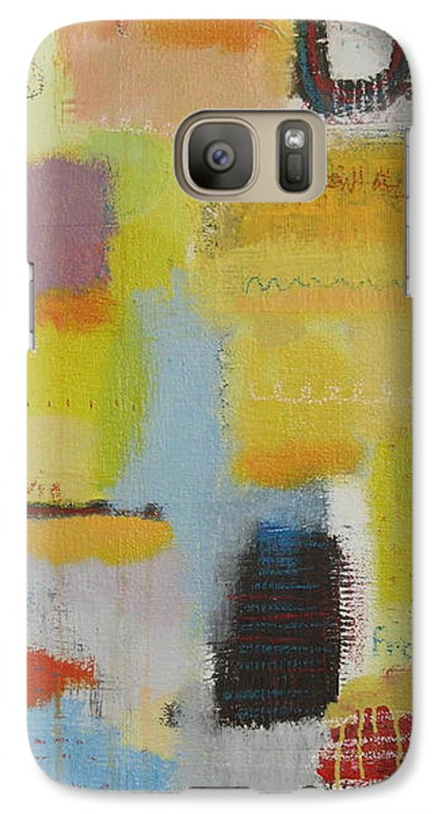 Abstract Galaxy S7 Case featuring the painting Abstract Life 3 by Habib Ayat