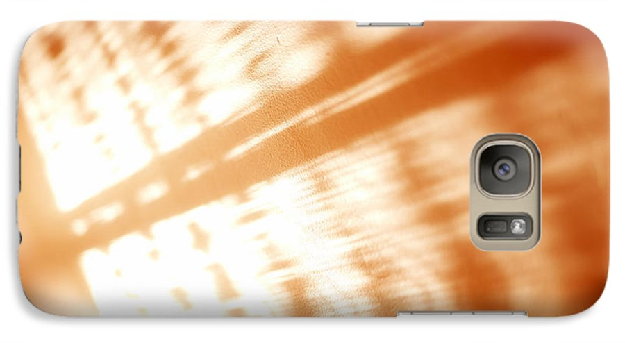 Abstract Galaxy S7 Case featuring the photograph Abstract Light Rays by Tony Cordoza