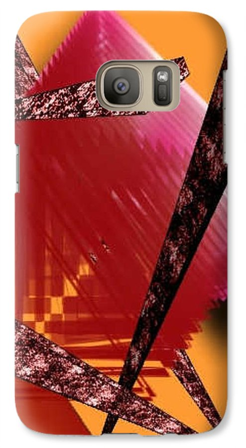 Abstracts Galaxy S7 Case featuring the digital art Abstract-n-gold by Brenda L Spencer