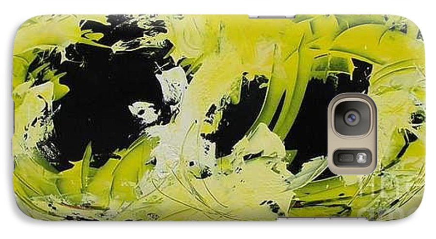 Abstract Galaxy S7 Case featuring the painting Abstract Nature by Mario Zampedroni