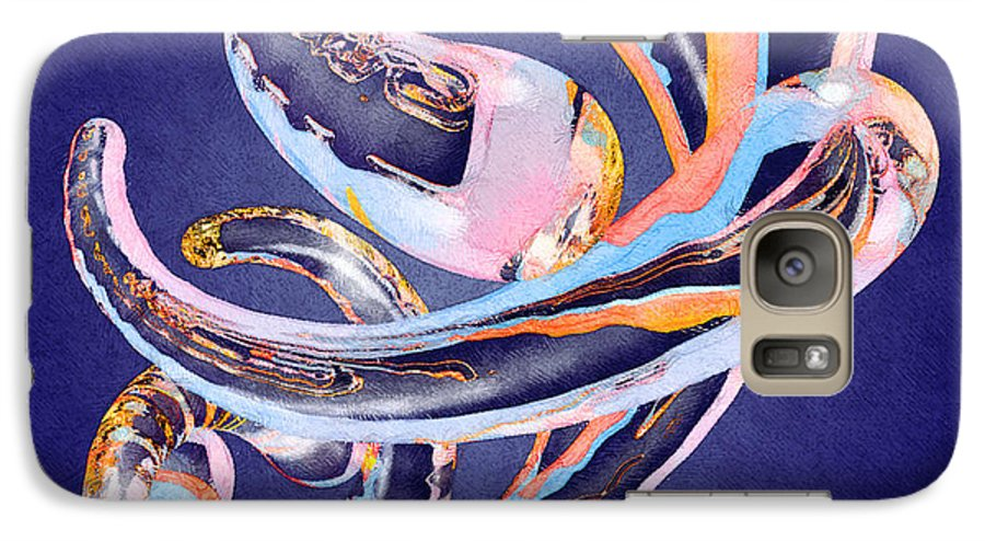 Abstract Galaxy S7 Case featuring the painting Abstract Number 11 by Peter J Sucy