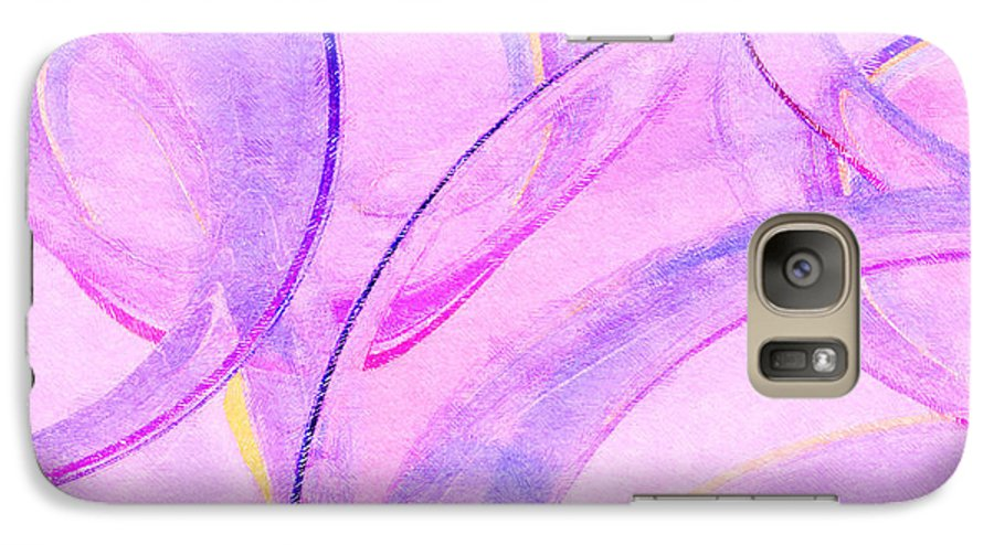 Glass Galaxy S7 Case featuring the painting Abstract Number 20 by Peter J Sucy