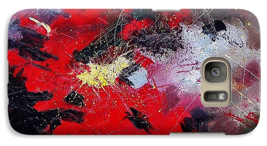Abstract Galaxy S7 Case featuring the painting Abstract070406 by Pol Ledent