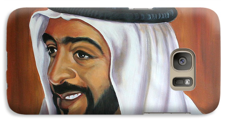Portrait Galaxy S7 Case featuring the painting Abu Dhabi by Fiona Jack