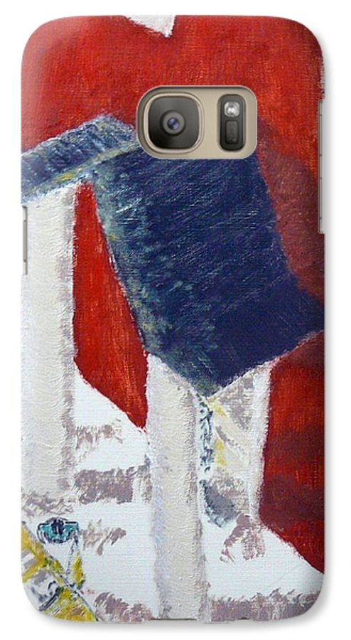 Social Realiism Galaxy S7 Case featuring the painting Accessories by R B