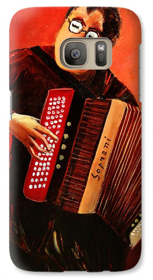 Music Galaxy S7 Case featuring the print Accordeon by Pol Ledent