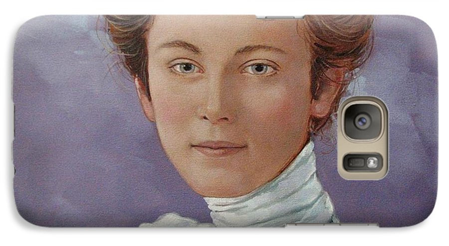 Posthumous Portrait Galaxy S7 Case featuring the painting Ada Douglas by Jerrold Carton