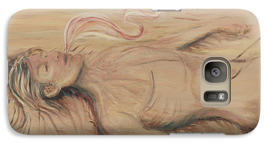 Adam Galaxy S7 Case featuring the painting Adam And The Breath Of God by Nadine Rippelmeyer