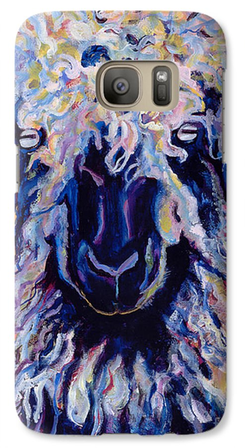 Goat Print Galaxy S7 Case featuring the painting Adelita  by Pat Saunders-White