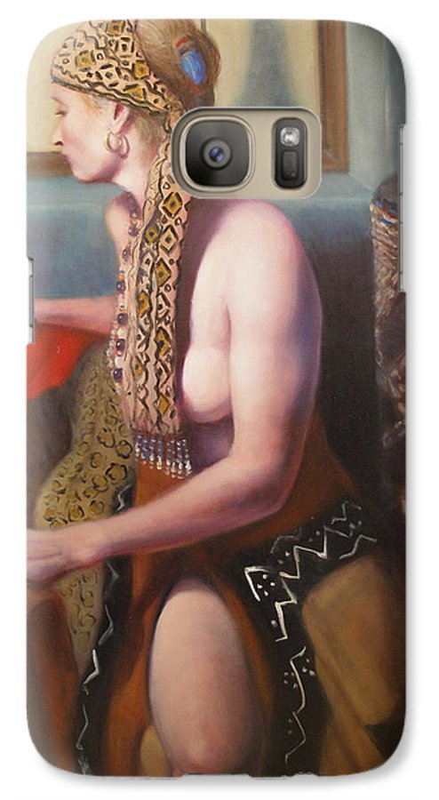 Realism Galaxy S7 Case featuring the painting African Drum 1 by Donelli DiMaria