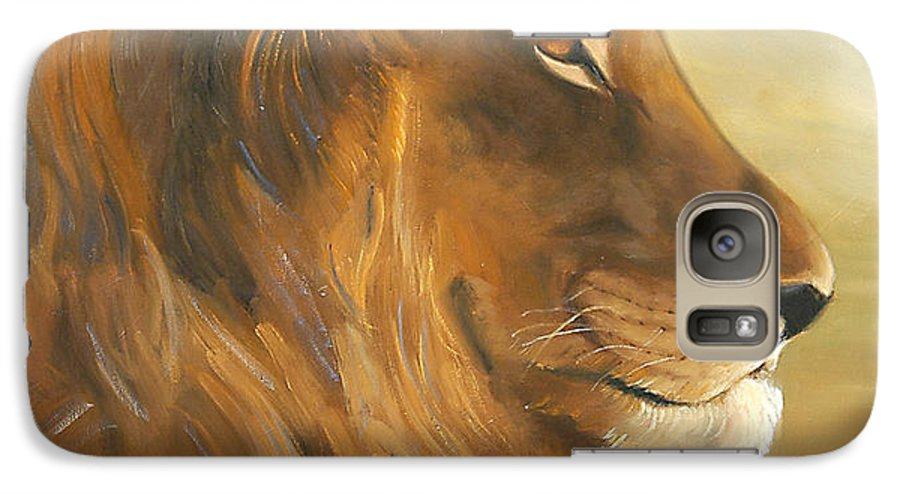 Painting Galaxy S7 Case featuring the painting African King by Greg Neal