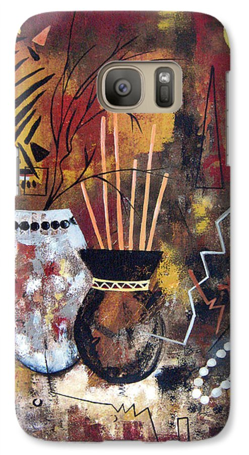 Abstract Galaxy S7 Case featuring the painting African Perspective by Ruth Palmer