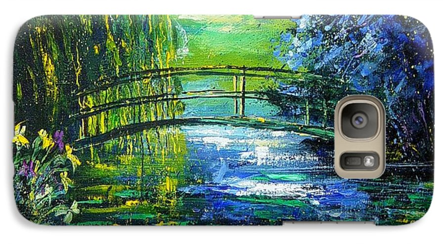 Pond Galaxy S7 Case featuring the painting After Monet by Pol Ledent