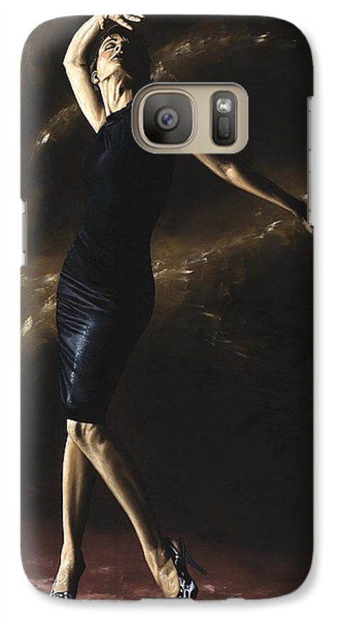 Dance Galaxy S7 Case featuring the painting After The Dance by Richard Young
