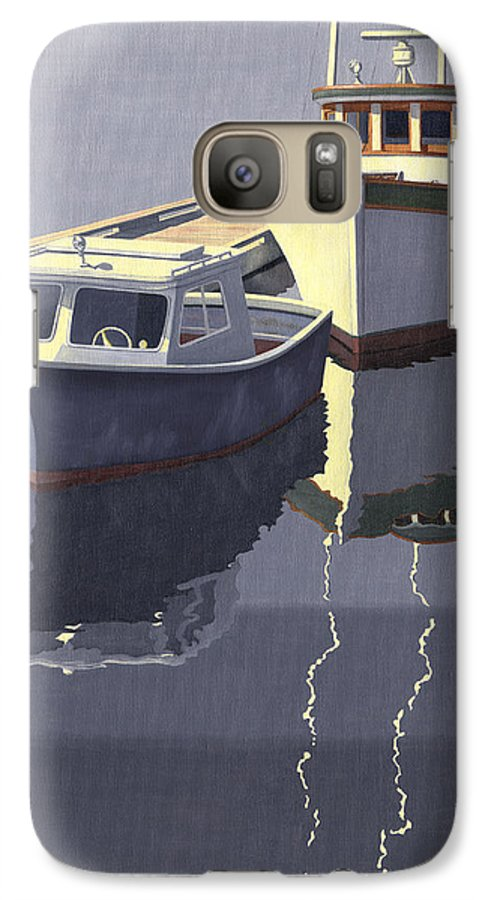Boat Galaxy S7 Case featuring the painting After The Rain by Gary Giacomelli