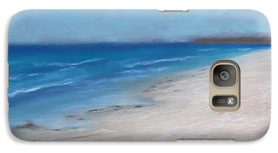 Landscape Galaxy S7 Case featuring the pastel Afternoon On Honeymoon Island by Greg Neal