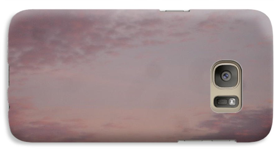 Skyscape Galaxy S7 Case featuring the painting Afternoon Sky by Roger Cummiskey
