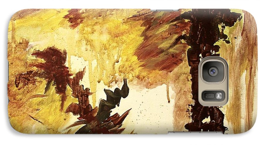 Abstract Galaxy S7 Case featuring the painting Age Of The Fall by Itaya Lightbourne