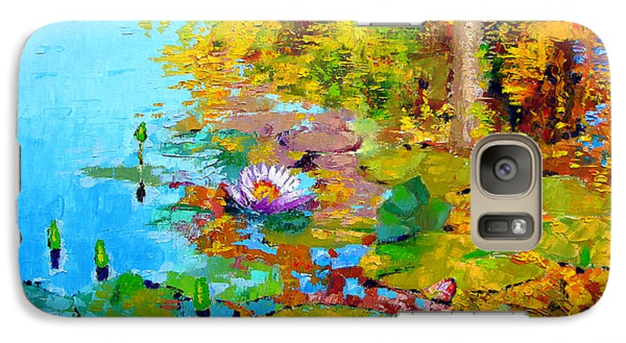 Fall Galaxy S7 Case featuring the painting Aglow With Fall by John Lautermilch