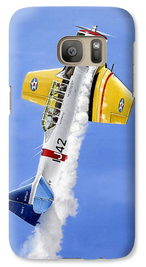 Military Galaxy S7 Case featuring the painting Air Show by Marc Stewart