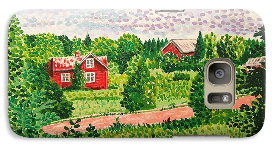 Aland Galaxy S7 Case featuring the painting Aland Landscape by Alan Hogan