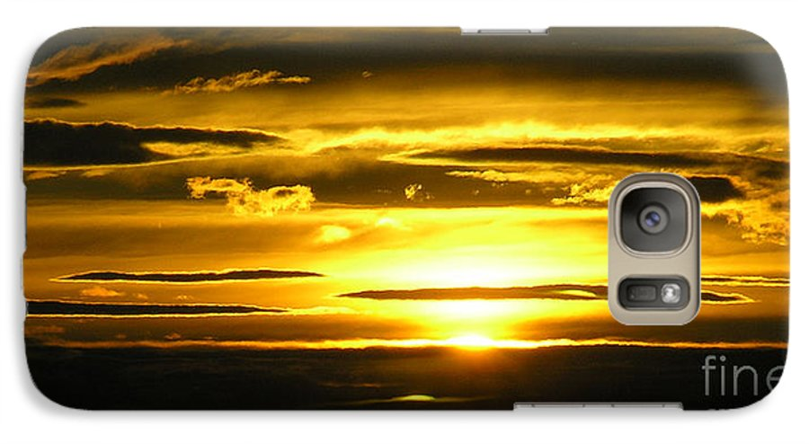 Sunset Galaxy S7 Case featuring the photograph Alaskan Sunset by Louise Magno