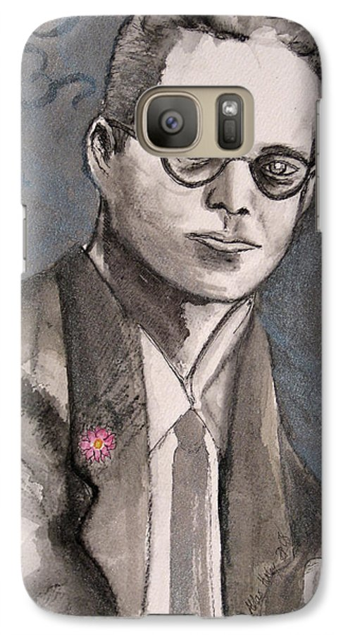 Aldous Brave Darkestartist Huxley New Painting Portrait Watercolor Watercolour World Galaxy S7 Case featuring the painting Aldous Huxley by Darkest Artist