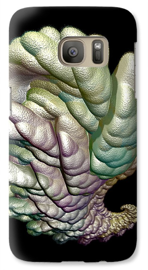 Fractal Galaxy S7 Case featuring the digital art Alien Brain by Frederic Durville