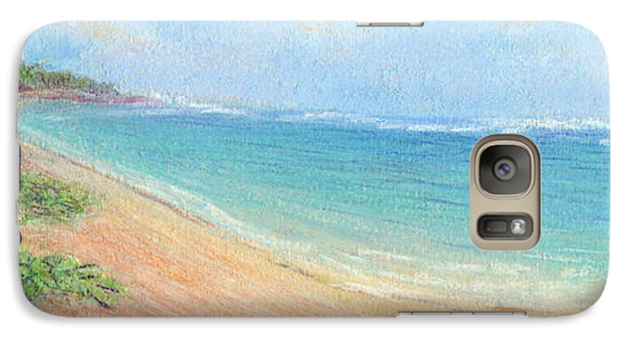 Rainbow Colors Pastel Galaxy S7 Case featuring the painting Aliomanu Beach by Kenneth Grzesik