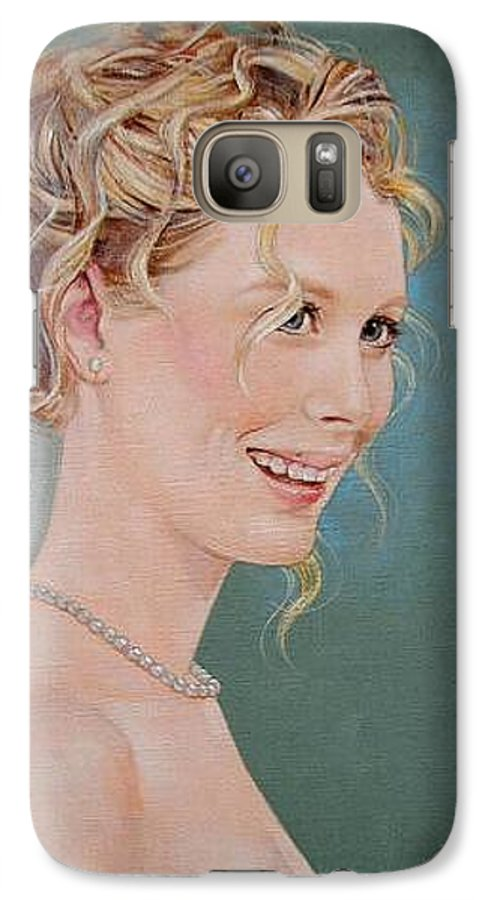 Wedding Galaxy S7 Case featuring the painting Allison by Jerrold Carton