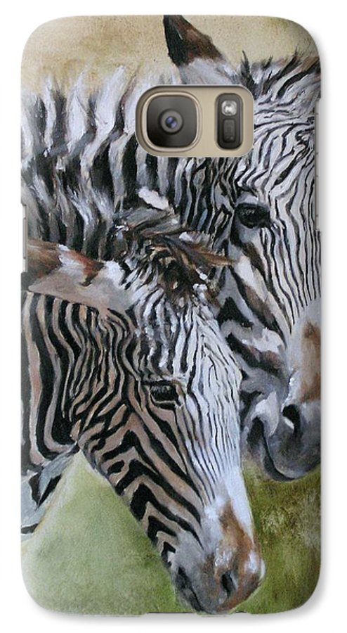 Wildlife Art Galaxy S7 Case featuring the painting Almost Grown by Debra Jones