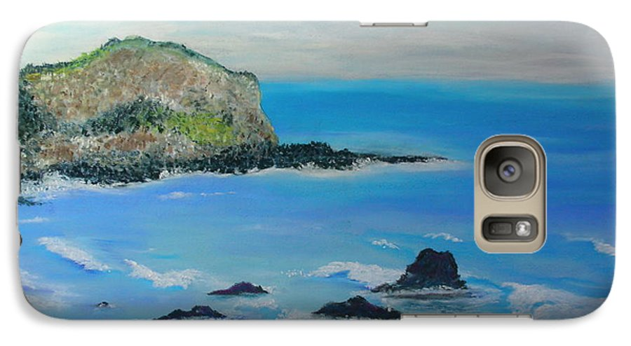 Hawaii Galaxy S7 Case featuring the painting Aloha by Melinda Etzold