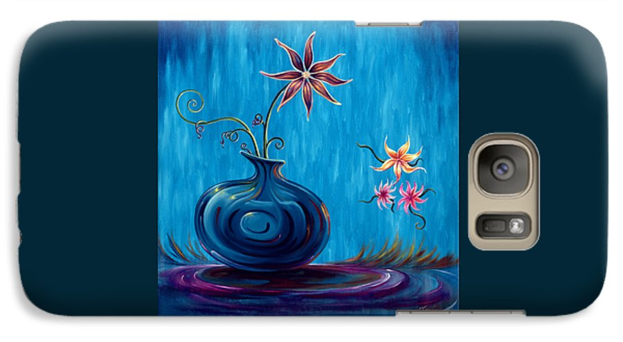 Fantasy Floral Scape Galaxy S7 Case featuring the painting Aloha Rain by Jennifer McDuffie