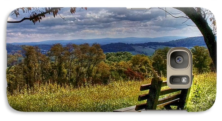 Nature Galaxy S7 Case featuring the photograph Alone by Mitch Cat