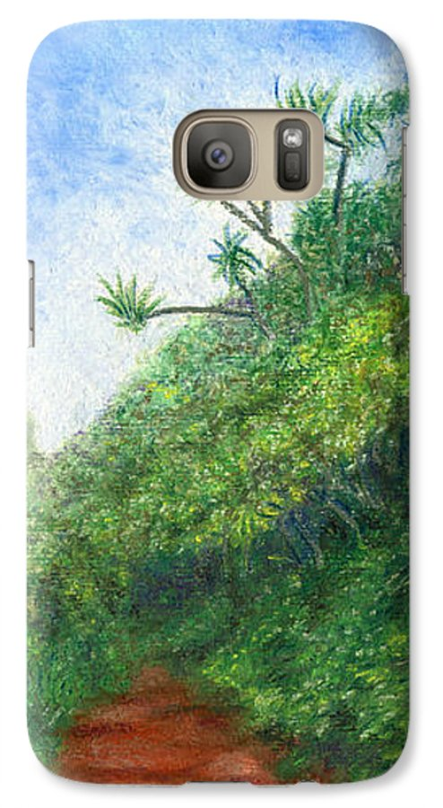Coastal Decor Galaxy S7 Case featuring the painting Along The Trail by Kenneth Grzesik